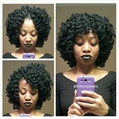 Crochet Hair Middle Part : ... hair dos! on Pinterest Crochet braids, Marley hair and Natural hair