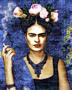 Frida poster Digital art Author Volkova Tetiana
