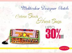 Get this Multicolor Designer Clutch now at best price...  Product Name:Multicolor Casual Wear Designer Clutch with Single Compartment  Product Code: MIAG9MC019 Product Price:Rs.420 Buy at link:http://bit.ly/1Ldo64K