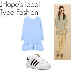 JHope's Ideal Type Outfit by kaisper on Polyvore featuring Cynthia Rowley, adidas, bts, Jhope and kpopinspired