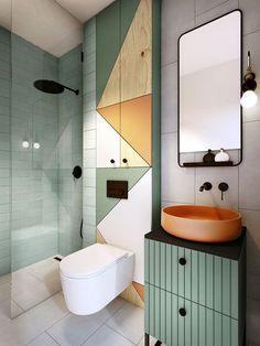 La salle de bains is not just a plus of more than three - Badezimmer /Toilette - Bathroom Decor Modern Bathroom Decor, Bathroom Interior Design, Interior Decorating, Bathroom Ideas, Modern Interior, Bathroom Mirrors, Funky Bathroom, Modern Bathrooms, Bathroom Colors