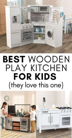 Best Wooden Play Kitchen for Kids: We took a look through some of the best wooden play kitchens - check out what we found! Children Games, Games For Kids, Kids Toys, Organizing Toys, Home Organization Hacks, Rainy Day Activities For Kids, Toddler Activities, Wooden Play Kitchen, Play Kitchens