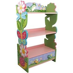 Fantasy Fields - Magic Garden Thematic Kids Wooden Bookcase with Storage | Imagination Inspiring Hand Crafted & Hand Painted Details | Non-Toxic, Lead Free Water-based Paint, http://www.amazon.com/dp/B0019FG5MW/ref=cm_sw_r_pi_awdm_x_.AZ.xb523JPF0