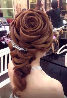 Don't Send Her Flowers. Giver Her a Hair Bouquet. How To Make a Rose Hairdo.