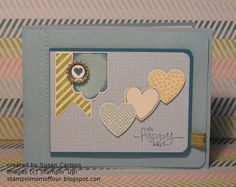 Stampin' Mom of Four: RemARKable Stamp of the Month Blog Tour - Hearts a Flutter