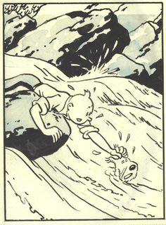 Hergé (1907 - 1983 Belgium )  - From L'Oreille Cassée, 1939