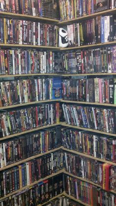 I would love to have shelves full of all my favorite movies lol