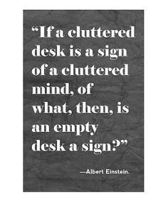 'Cluttered Desk' Print
