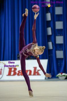 Olena DIACHENKO (Ukraine)🇺🇦 ~ Ball @ World Challenge Cup Minsk 05-06/08/'17🇧🇾 😘😘