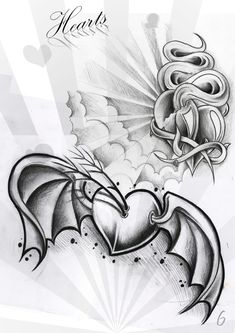 ...winged rose with banners... ...stencil - - ...