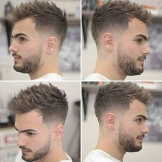 New Hair Cuts Degrade Short Hairstyles Ideas Cool Hairstyles For Men, Hairstyles Haircuts, Haircuts For Men, Hairstyle Men, Mens Hairstyles Fade, Hair Styles 2016, Short Hair Styles, Short Blonde Haircuts, Coiffure Hair