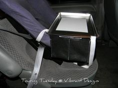 Tutorial for a do-it-yourself carseat travel tray. $15 for 3!!!