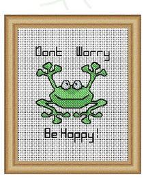 Craftdrawer Crafts: Free Hoppy Frog Cross Stitch Pattern