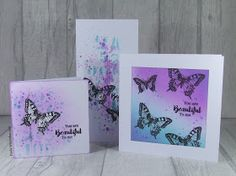 Buzzy Goings on at Bee Crafty Bidford: Paula DT - The same but different Distress Oxides, Butterfly Cards, You Are Beautiful, Tim Holtz, Different, Cardmaking, Stampin Up, Projects To Try, Bee