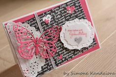 Schmetterling, rhabarberrot. neues Designerpapier neutralfarben #stampinup