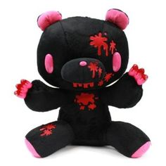 """14"""" Gloomy Bear Plush Doll Toy - Black Color with Blood"""