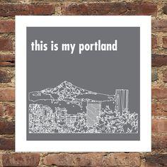 City Skyline Personalized Custom Print Portland by DefineDesign11, $15.00