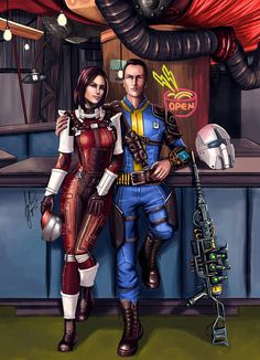 Fallout - Piper and friend. by AHague on DeviantArt Fallout 4 Piper, Fallout New Vegas, Fallout Fan Art, Fallout Concept Art, Fallout Wallpaper, Fallout Cosplay, Bethesda Games, Fall Out 4, Fantasy Movies
