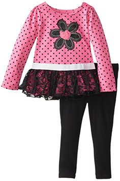 Kids Headquarters Little Girls' Printed Tunic Leggings, Pink, 3T | Amazon Promo Code