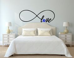 Love Infinity Symbol with Police Badge Police by imprinteddecals