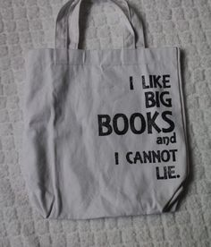 How to decorate a bag with stencil--this is a gift I am making for ME!  What a great library bag!