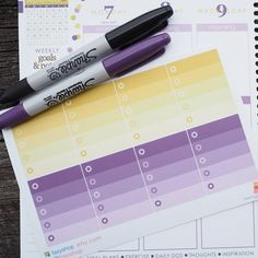 8 Ombre Checklists Boxes September Theme Sticker Planner // Perfect for Erin Condren Life Planner by FasyShop on Etsy