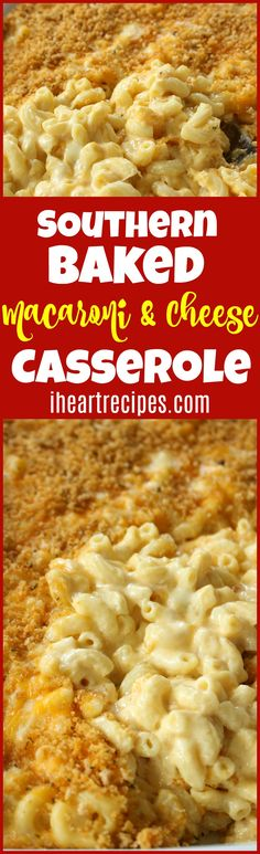 Southern Baked Macaroni and Cheese Casserole - Casserole Recipes - Lebensmittel Macaroni And Cheese Casserole, Creamy Macaroni And Cheese, Macaroni Cheese Recipes, Mac And Cheese Homemade, Casserole Recipes, Creamy Cheese, Mac Cheese, Cheese Sauce, Pasta Recipies