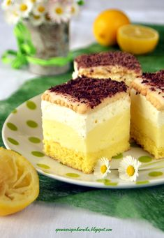 Polish Desserts, Polish Recipes, Vegan Desserts, Delicious Desserts, Yummy Food, Polish Cake Recipe, Ukrainian Desserts, Baking Recipes, Cake Recipes
