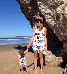 Playa tranqui - Click the link to see the newly released collections for amazing beach bikinis! Mommy And Me Shirt, Mommy And Me Outfits, Cute Outfits, Matching Outfits, Mom Daughter, Mother Daughters, Mother Son, Mother Daughter Shirts, Father