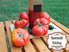 There is nothing more special than being able to make things from your own homestead. One of the things that we love to make is our homemade ketchup. Fermentation Recipes, Canning Recipes, Clean Recipes, Whole Food Recipes, Homemade Ketchup Recipes, How To Make Your Own Recipe, Farmers Market Recipes, Toddler Snacks, Dehydrator Recipes