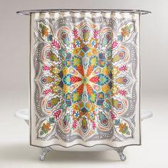 Andana Medallion Shower Curtain | World Market