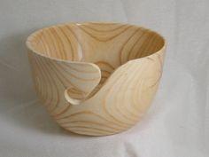 Wooden Yarn Bowl Hand Turned Ash Wood. 7 inch by Woodbeach on Etsy