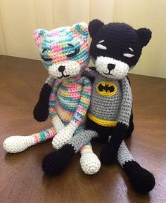 BatCat & Rainbow aminekos done by me (o^^o)