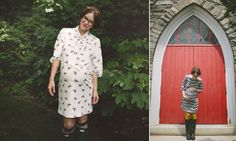 Naomi Davis (Rockstar Diaries) for More of Me Maternity wearing Betty Dress in Horse Print and Florence Dress is Zig Zag