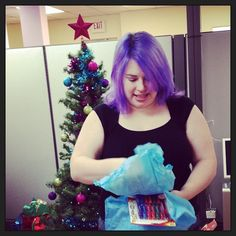 CHARM IT! HQ Grab Bag… Jen checking out her new office goodies!