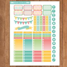 Colorful Geometric Planner Stickers by PrintThemAllStudio on Etsy