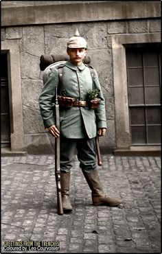 A Soldat from an unknown Saxon infantry regiment circa 1915.