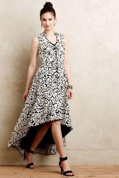 Acanthus Dress - anthropologie.com - black and white brocade mullet dress