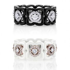 Channel the mystery of the moonlight or the energy and warmth of the daylight with these new diamond and ceramic bands from the #EnchantedLotusCollection. The celebrated Enchanted Lotus collection brings together the delicacy of diamonds and the serenity of the lotus flower in an exquisite union embodying eternity, beauty and purity. The bold contrast of ceramic colour and texture honours the diamonds' brilliance and creates a graphic interpretation of the feminine Enchanted Lotus motif.