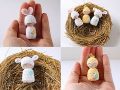 Pink Mouse Boutique: How to Crochet Easter Peg Dolls: Bunny, Baby Chick, and Lamb (Free Pattern)