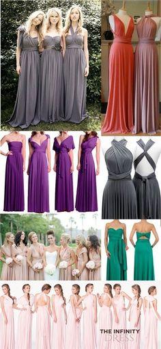 Versatile : the infinity dress Infinity Dress Ways To Wear, Infinity Dress Styles, Gala Dresses, Cute Dresses, Formal Dresses, Wedding Dresses, Evening Dresses, Bridesmaid Dress Styles, Wedding Bridesmaids