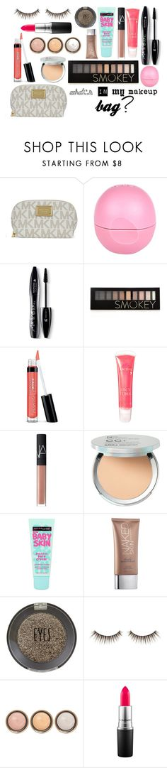 """whats in my makeup bag?"" by manal-mk ❤ liked on Polyvore featuring beauty, Michael Kors, River Island, Lancôme, Forever 21, Bare Escentuals, NARS Cosmetics, It Cosmetics, Maybelline and Urban Decay"