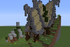 Fantasy Hobbit House 5 - GrabCraft - Your number one source for MineCraft buildings, blueprints, tips, ideas, floorplans!