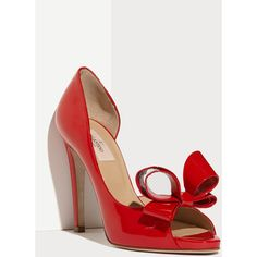 Valentino Couture Bow d'Orsay Pump ($745) found on Polyvore