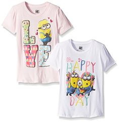 Despicable Me Girls' Minion Happy Day and Love Heart Packof 2 #minion #minions #minionstuff