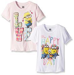 Despicable Me Girls' Minion Happy Day and Love Heart Packof 2 #minion #minions #minionstuff