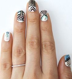 Digging the tribal mani? So are we! We're here with a tutorial for this cute manicure that anyone can do with ease.