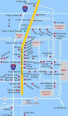 Map of Las Vegas Hotels