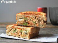 Sandwich de pollo y queso