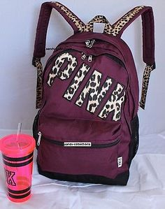 VICTORIA'S SECRET Backpack Bookbag Campus Bag . Maroon Waterproof. NWT